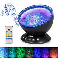 Remote Control Timer LED Ocean Wave baby light projector with music