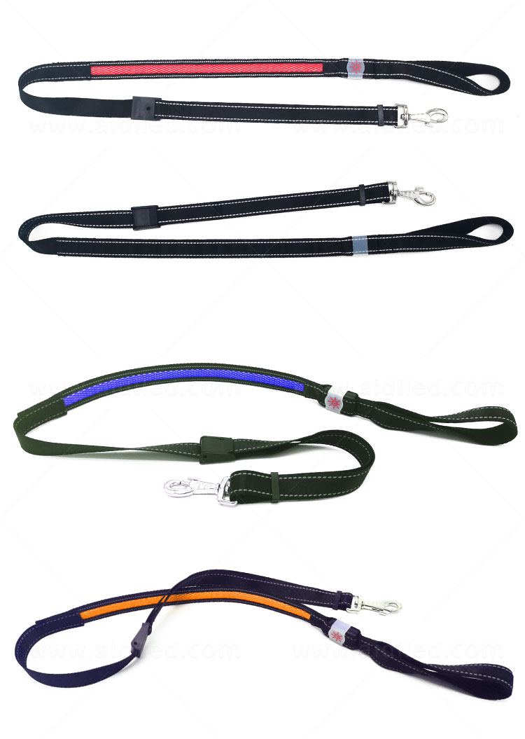 product-AIDI-Hot sale flashing style LED Mesh Dog Leash-img-1