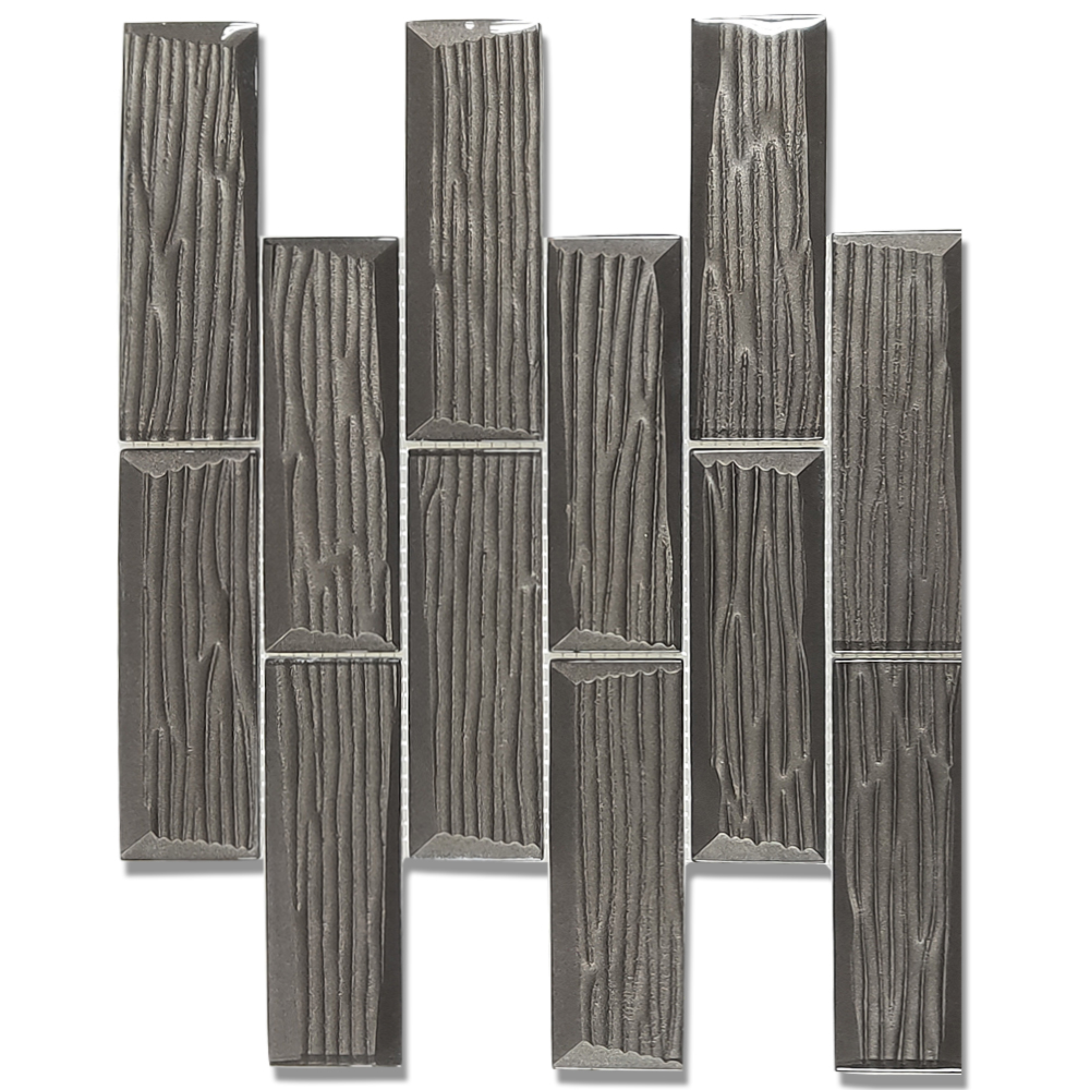 Indoor houtnerf interieur metro tegel backsplash muur