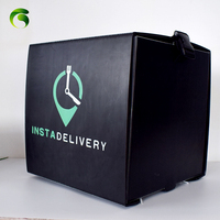 Green Marc popular UK Plastic corrugated correx pizza delivery box for scooter bike