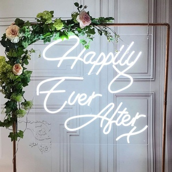 Happily Ever After Noen Sign for Wedding Decoration