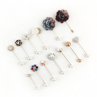 Deepeel ZK5138 Flower Women Sweater Buckle Vintage Corsage Collar Needle Ornaments Fashion Pearl Brooch Pin
