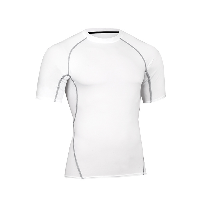 Custom Logo Wholesale Men's Sport Wear Compression Quick Dry Running Athletic Workout Short Sleeve T Shirts 7