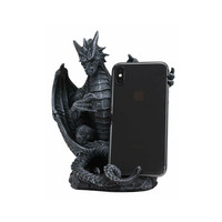 Polyresin ancient dragon cell phone holder home decor statue