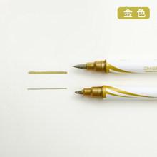1 шт. цветная металлическая ручка для рисования, двусторонние маркеры для рисования, s Dairy Palnner Book Journal, ручка для рукоделия, Канцтовары(Китай)