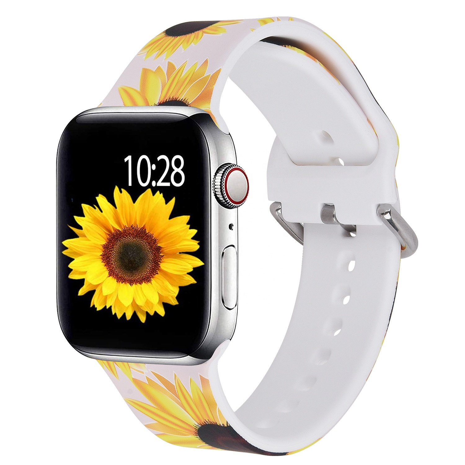 New Designs Durable Heat Transfer Print 40mm 22mm Silicone Watch Strap for Apple Watch Series 5/4/3/2/1
