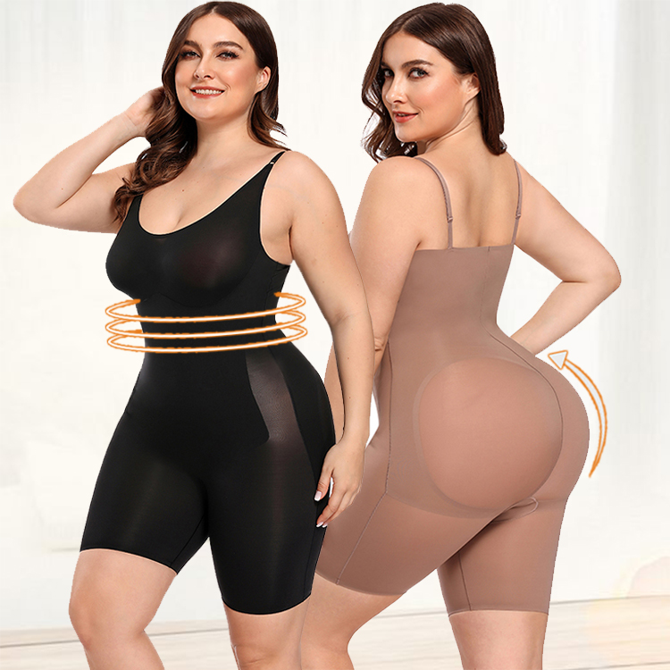 2019 Custom Butt Lifter Tummy Control Slimming Full Body Shaper <strong>Women</strong> Shapewear <strong>Bodysuit</strong>