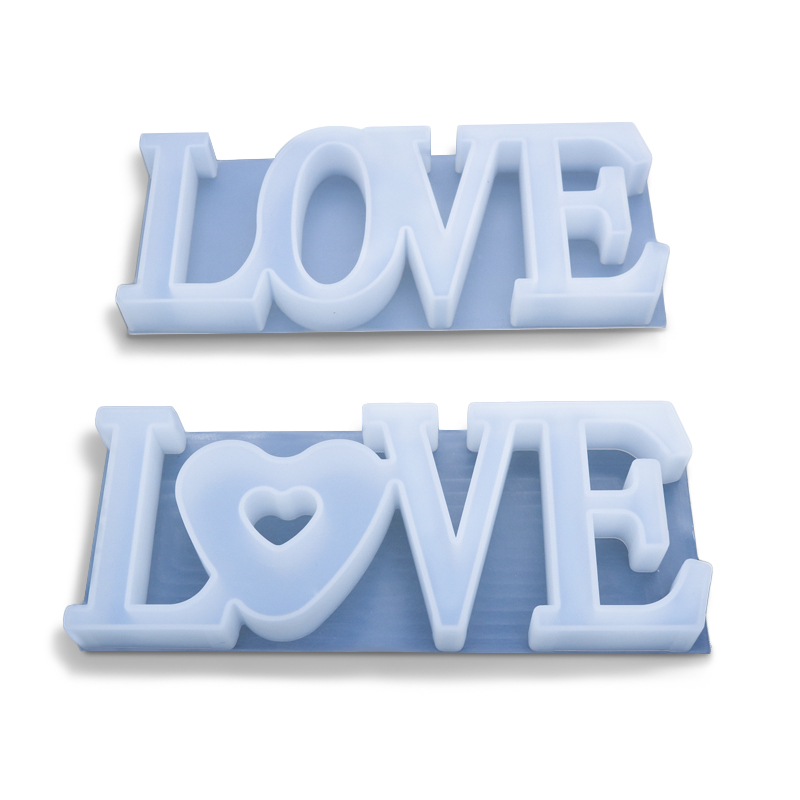 Diy elated crystal drip glue love letter planter silicone mold love silicone mold silicone mold for resin epoxy
