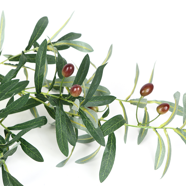 Direct factory customize green olive branch with fruit