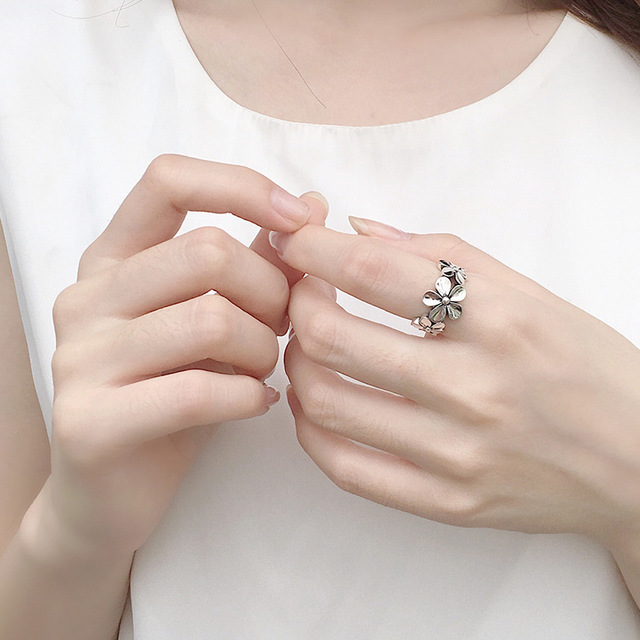 Fashion Couple Ring 925 Sterling Silver Ring Women Jewelry White Gold Plated