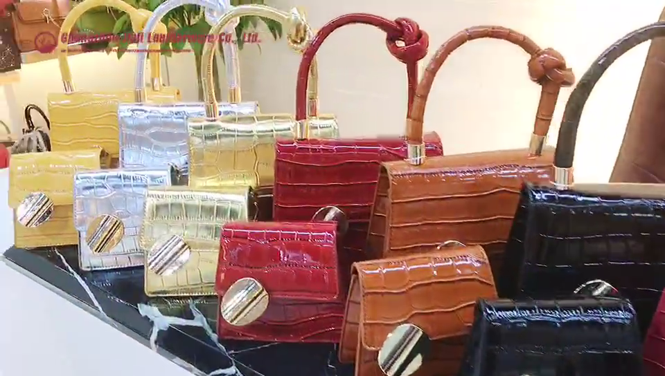 6030-1  new arrived good quality pu leather 2 in 1 shoulder handbags set for women