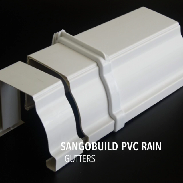 SGB गुणवत्ता रंग बारिश downspout clipe छत नाली प्रणाली मलेशिया थोक मूल्य पीवीसी वर्षा का पानी गटर कीमत