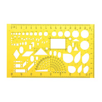 Acrylic Drawing Template Architect Scale Measuring Templates Building Geometric Drawing Rulers