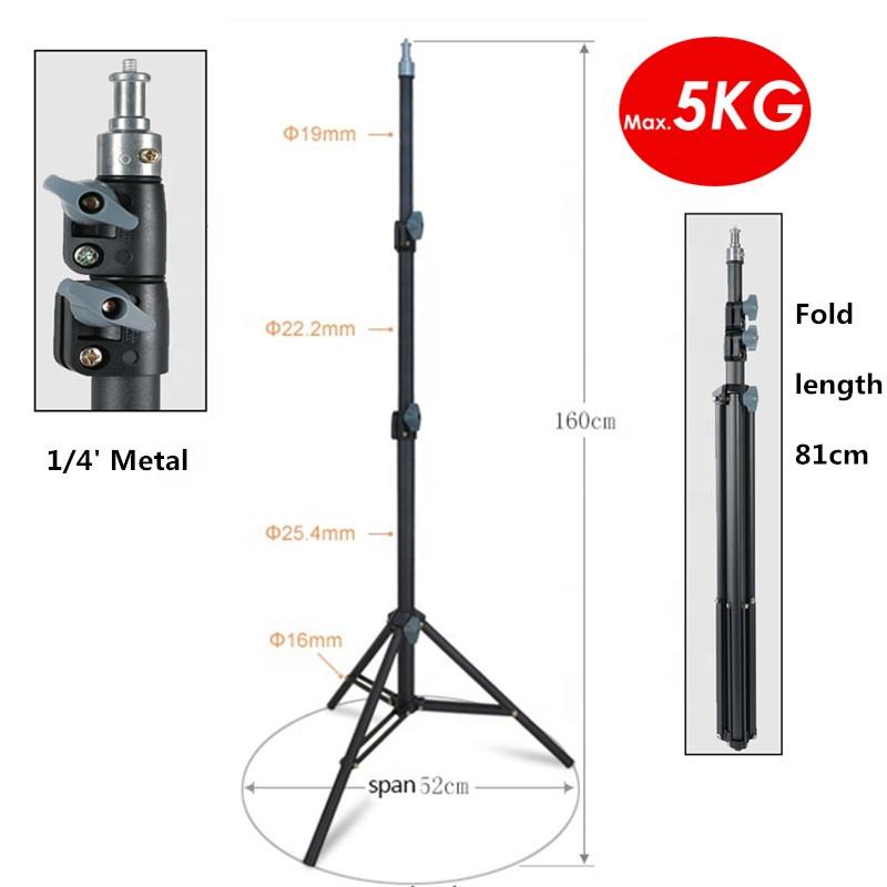 225cm Max Last 5KG Heavy Duty AL Metall Foto Video Licht Stehen Stativ Für Fotografie Beleuchtung Reflektor