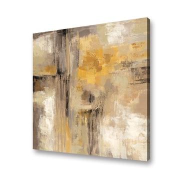 L'art Abstrait Jaune Couleur Peinture Acrylique