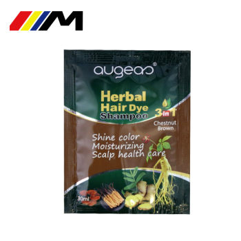 Augeas hair dye brands wholesale manufacturer all no ppd natural sachet temporary washable black hair color shampoo