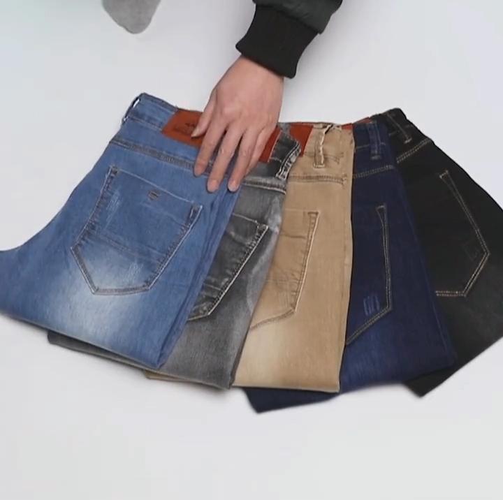 New Arrivals Men Stretch Skinny Jeans Fashion Casual Slim Fit Denim Trousers Male Gray Black Khaki White Pants Male Brand