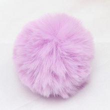 IBOWS 5 шт. помпон из кроличьего меха, многоцветные шарики для DIY, сумка для ключей, Очаровательная вязаная шапка, аксессуары для волос, украшени...(Китай)