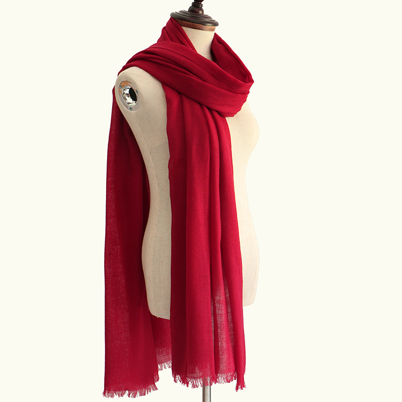 wholesale winter custom logo thick plain wool cashmere scarf