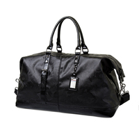 Fashion custom outdoor travel waterproof overnight large gym pu leather duffle bag