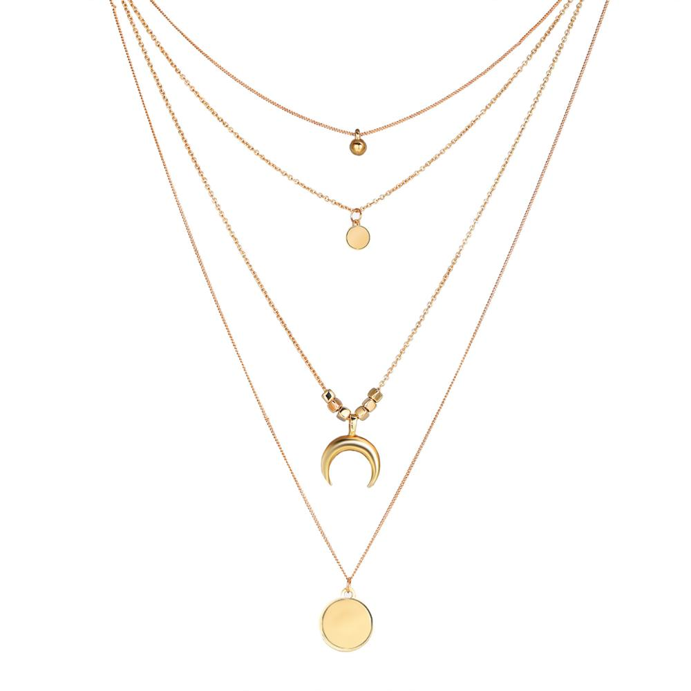 <strong>fashion</strong> wish ins women korean jewelry chain birthday christmas gift ladi layer necklace for women