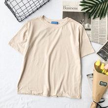 Женские розовые футболки HELIAR, Повседневные вязаные короткие футболки с коротким рукавом, 2020(Китай)
