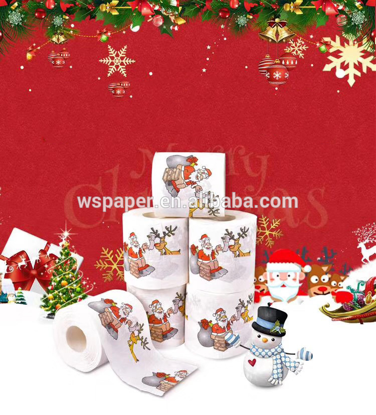 Factory Direct Wholesale Christmas Tree Printed Toilet Paper for Sale