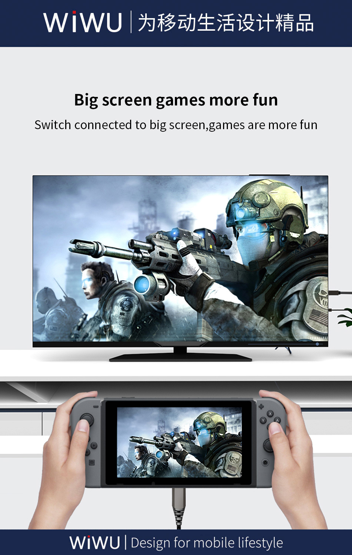 WiWU X10 type-c转HDMI数据线 (https://www.wiwu.net.cn/) 数据线 第2张