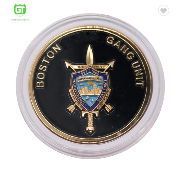 Christmas decoration factory price gold and silver plating metal 3d challenge coin