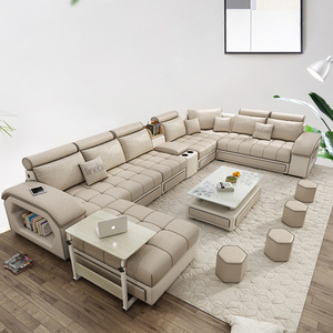 Furniture factory provided living room sofas livingroomsofa living room technology cloth sofa set 7 seaterfabric sofa 1901
