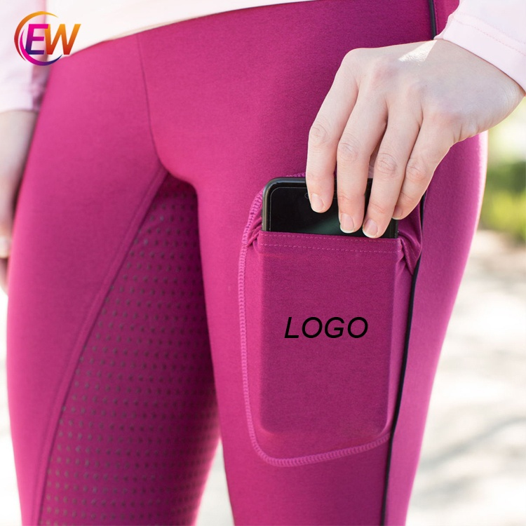 Ready To Ship Low MOQ EW <strong>Horse</strong> Full Seat Silicone Breeches Black Color <strong>Horse</strong> Riding Leggings Equestrian Clothing