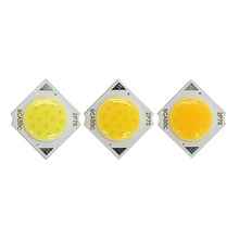11 Mm Putaran COB LED <span class=keywords><strong>Chip</strong></span> Sumber Cahaya 3W 5W 7W <span class=keywords><strong>Chip</strong></span> On Board 14 Mm Square COB Manik-manik untuk Spot Lampu Downlamps 3000K 4000K 6000K