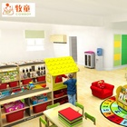 Furniture Kids Colour-wood Children Nursery Furniture Kids Preschool Furniture