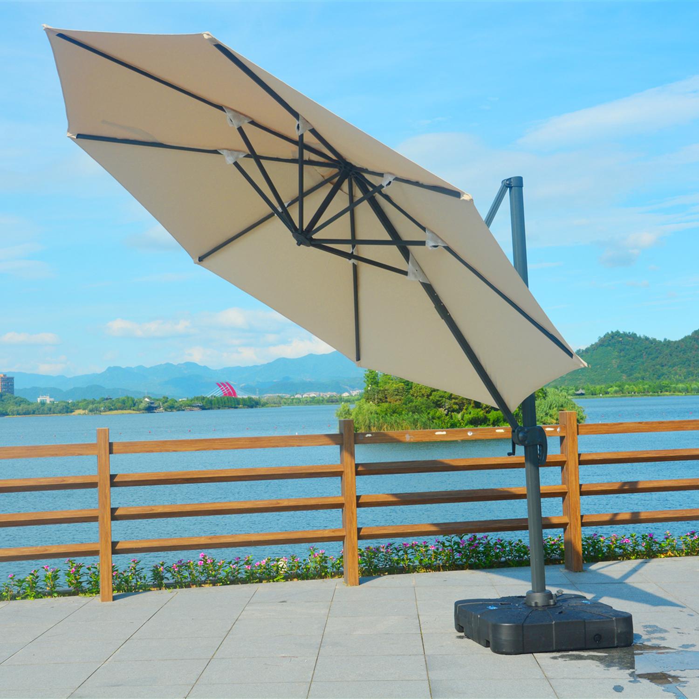 2018 Moda café restaurante jardín al aire libre playa voladizo Banana Patio manivela sombrilla 3m paraguas al aire libre Banana paraguas