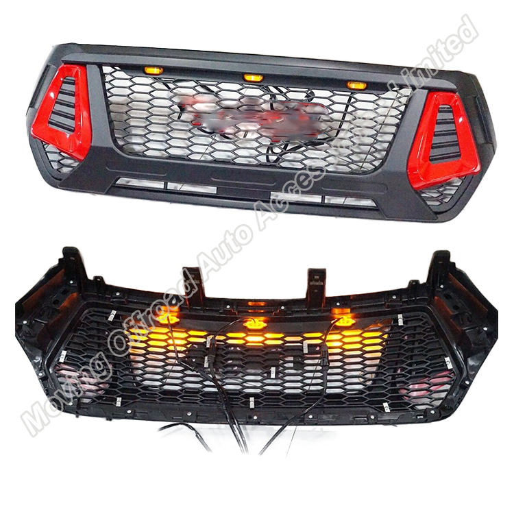 New design Hilux rocco conquest front grille with LED light accessories