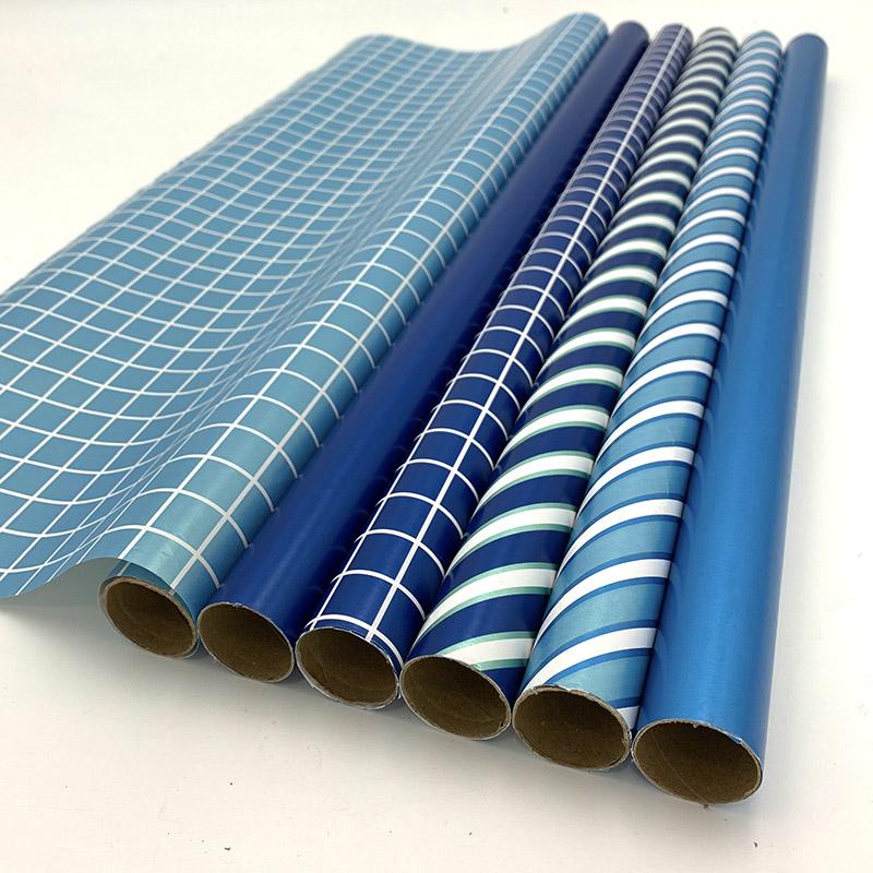 Rolo de papel de embrulho para presente, personalizado, de alta qualidade, impresso, diário