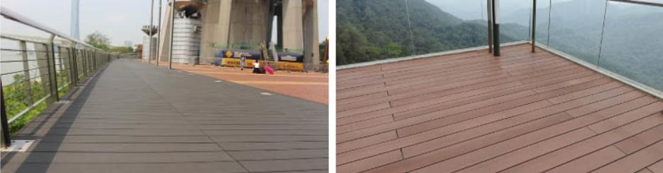 Hot sale Outdoor waterproof swimming pool flooring cover hollow wood plastic wpc composite decking