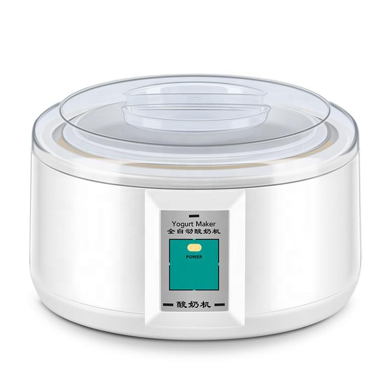 1.5L ग्लास कप एलसीडी डिजिटल प्रदर्शन वाणिज्यिक औद्योगिक प्लास्टिक स्वत: बिजली दही निर्माता