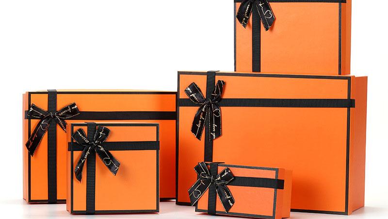 사용자 정의 수제 럭셔리 오렌지 의상 핸드백 쥬얼리 Gife 상자