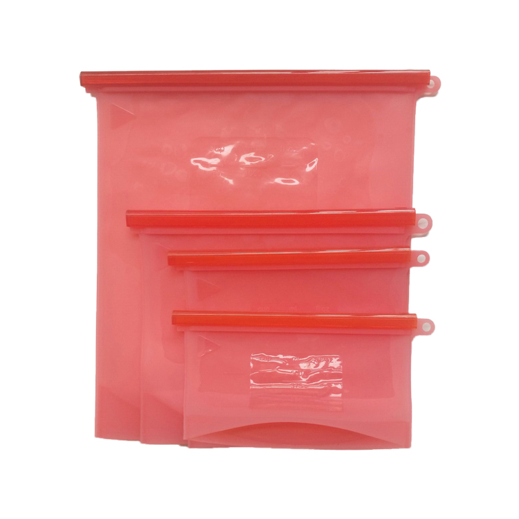 500ml/1000ml/1500ml/4000ml Preservation Reusable Silicone Food Storage Bag