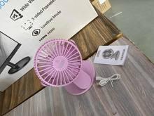 Новинка, хит продаж, USB Перезаряжаемый Настольный/настольный вентилятор, мини портативный вентилятор с зажимом, вращается на 360 градусов, ве...(China)