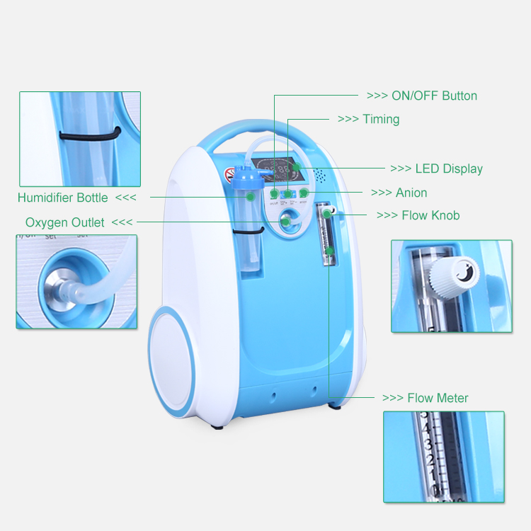 Hot Sale & High Quality Smart Travel Oxygen Concentrator Remote Control Portable Oxigen Concentrator