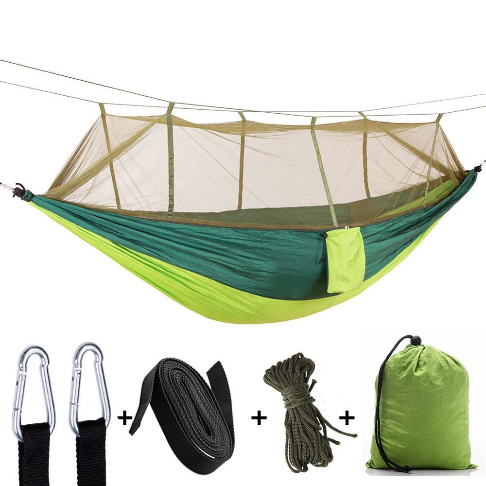 Custom Draagbare Camping Hangmat met Verstelbare Klamboe