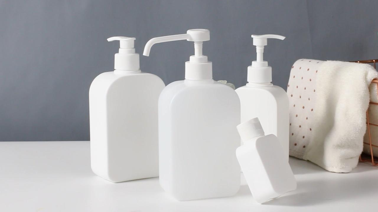 Cura della pelle di Imballaggio 8 ONCE HDPE quadrato di Plastica bottiglia vuota per il lavaggio a mano con lozione pompa
