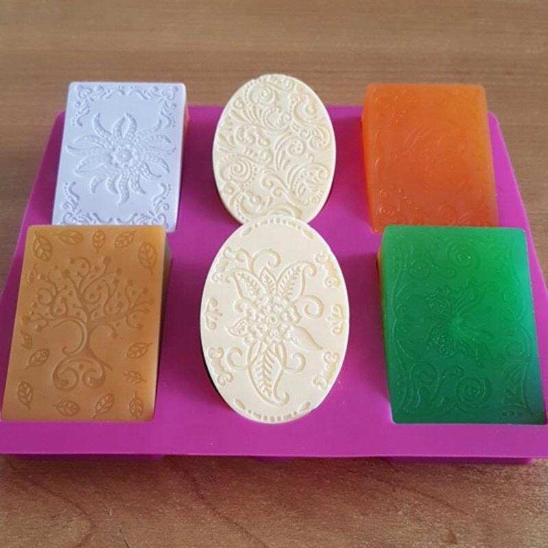Новейшая комбинация силиконового мыла для тела прямоугольная овальная форма для мыла ручной работы