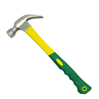 High Precision Yellow Green Claw Hammer With Tail Hole And Plastic Handle