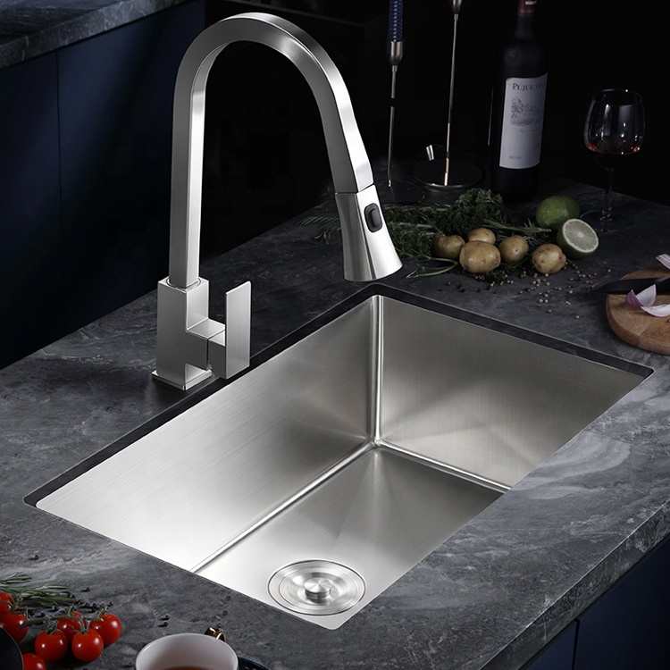 Custom undermount 304 large size stainless steel rectangle pedestal small kitchen sink