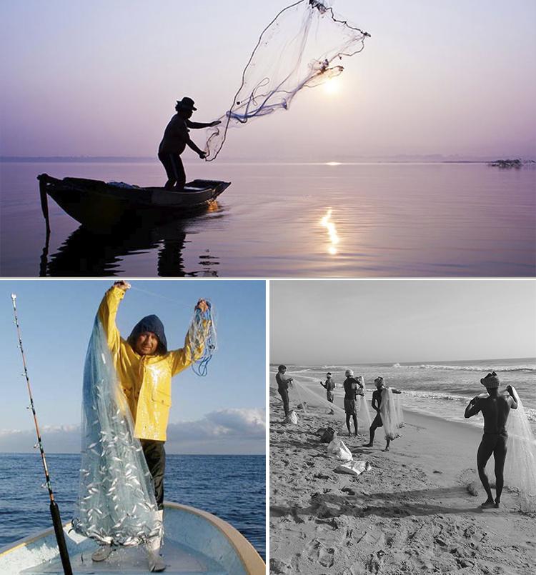 Environmentally cast net fishing Drawstring China Quick Throw
