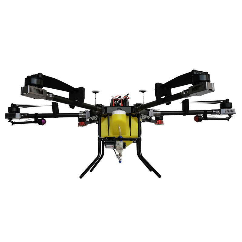 High density spraying remote control electric powered 15 l payload 2 mist nozzles agri drone sprayer UAV with 6 propellers