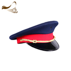 Fashion Classic PVC Printing Army Head Cap Military Officer Hat